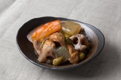 野菜シイラ皿盛例